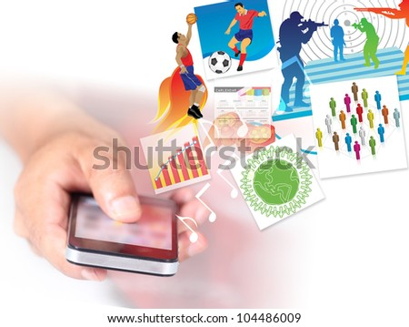 Concept Smartphone in hand - stock photo