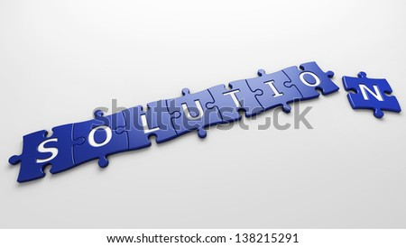 concept solution - stock photo