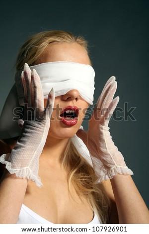 Girl blindfold