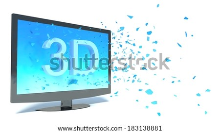 concept surround television - stock photo