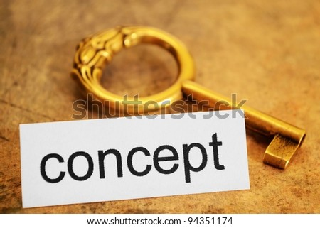 Concept tag and old key