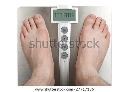 Concept: Too fat. - stock photo