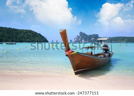 Concept travel Tropical beach, Thailand