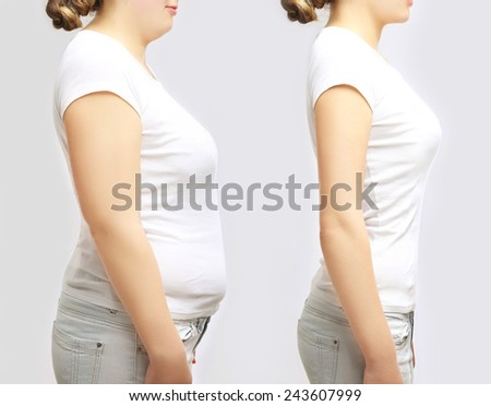 Concept-weight loss - stock photo