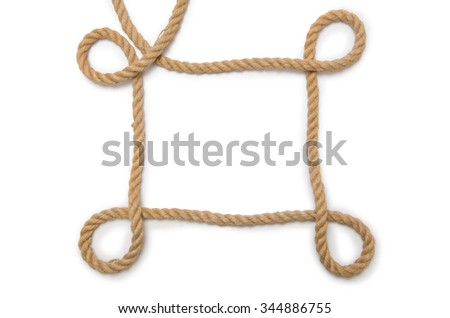 Concept with long hemp rope