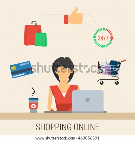 Credit shopping online