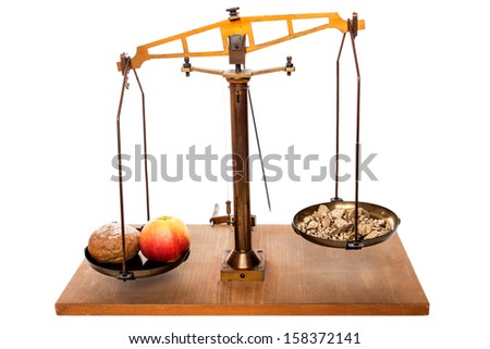 concept you cannot eat gold - stock photo