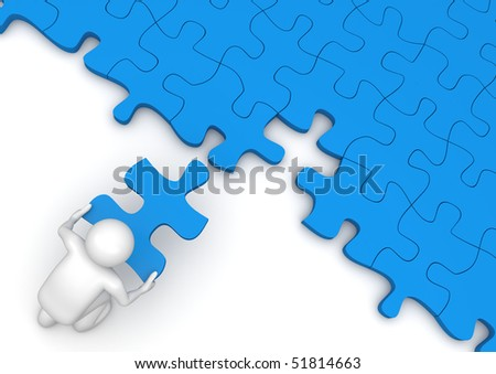 Concepts collection - Last piece of the puzzle - stock photo