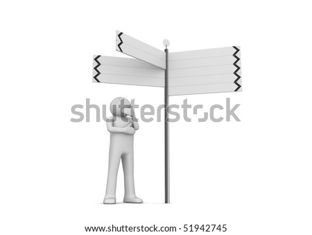 Concepts collection - Street pointer - stock photo