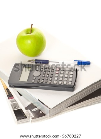Concepts of counting calories - stock photo