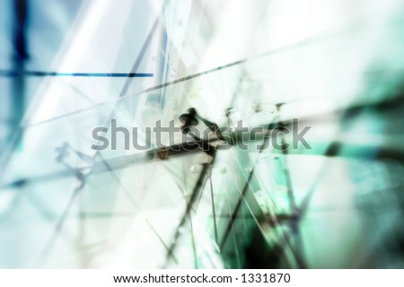 Conceptual abstract background for building construction - stock photo