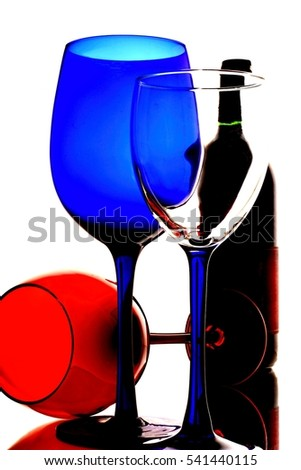 Conceptual abstract wine glassware background design.