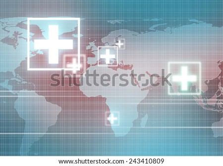 Conceptual background digital image with medicine symbol - stock photo
