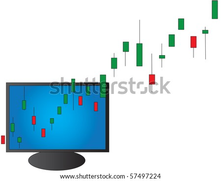 Conceptual bull market illustration - stock photo