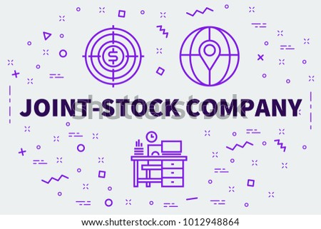 Conceptual Business Illustration Words Jointstock Company Stock