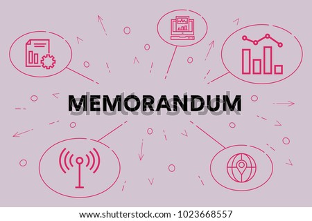 Conceptual Business Illustration Words Memorandum Stock Illustration