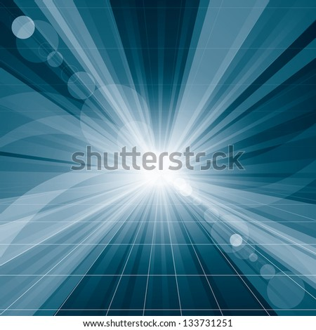 Conceptual business virtual background with blends - stock photo