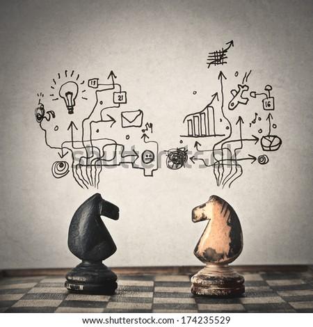 conceptual chess - stock photo