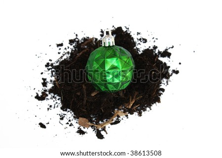 Conceptual Christmas ornament - stock photo