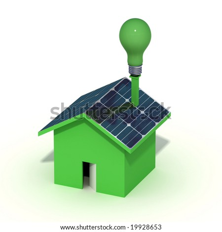 conceptual- clean energy from photovoltaic
