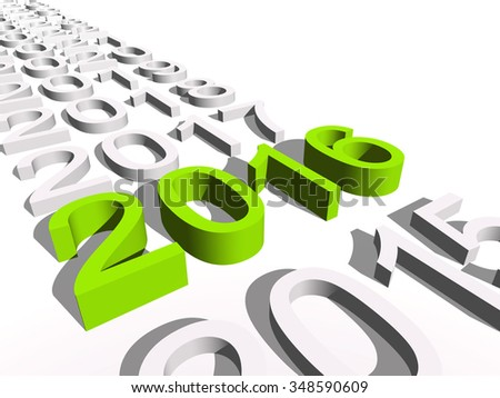 Conceptual 3D green 2016 new year text standing out of the crowd isolated on white for holiday, symbol, Christmas, calendar, happy, eve, December, January, time, change, season new year winter graphic