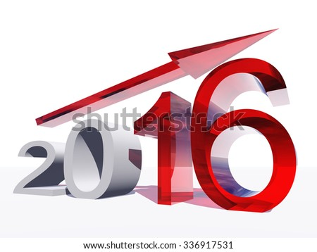 Conceptual 3 D Red 2016 Year Symbol Stock Illustration 336917531