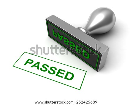 Conceptual 3d render of rubber stamp on white background - stock photo