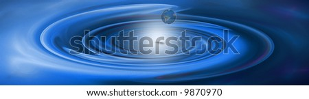conceptual design (banner) expressing the danger earth is facing due to global warming