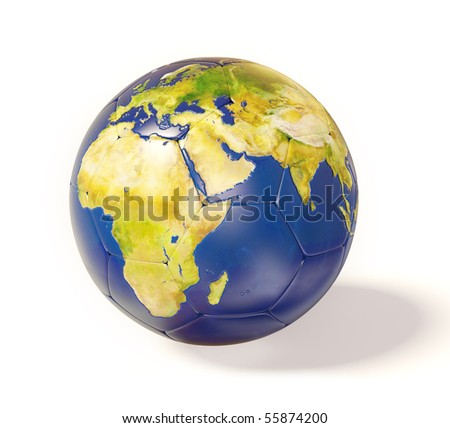 conceptual earth on white background isolated