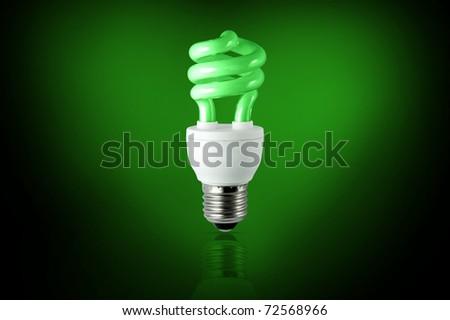 Conceptual energy saving - stock photo