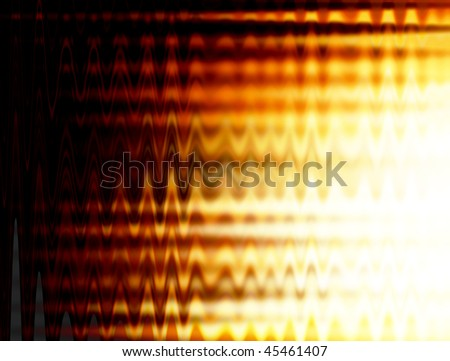 Conceptual fire background. Black and orange waves