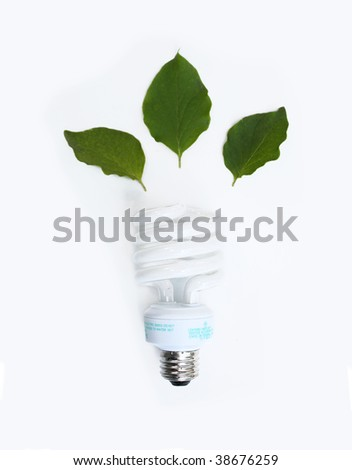 Conceptual fluorescent lightbulb