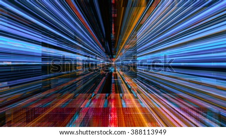 Conceptual futuristic technology digital light abstraction. High resolution illustration 10799. - stock photo