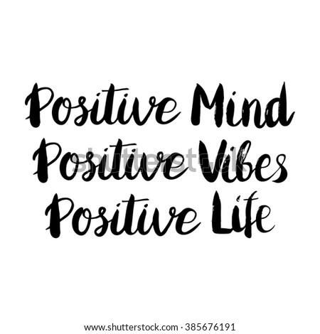 conceptual handwritten phrase positive mind positive stock vektor 339965189 shutterstock. Black Bedroom Furniture Sets. Home Design Ideas