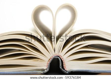 Conceptual Heart from a Book - stock photo