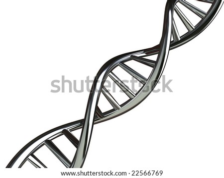 Conceptual Illustration of DNA - XXL with clipping path - stock photo