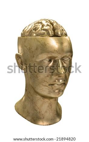 Conceptual illustration of human mind - stock photo