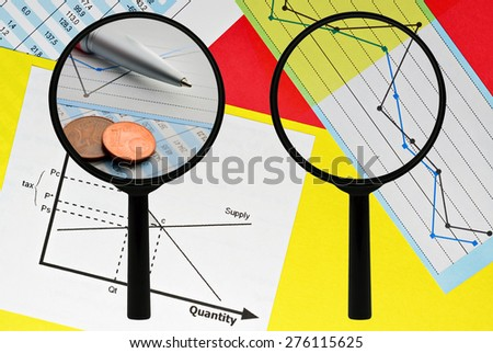 Conceptual image about business analysis and statistical data - stock photo