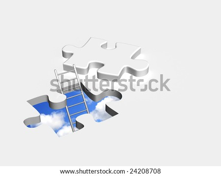 Conceptual image - an exit to the nature - stock photo