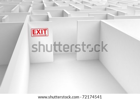 Conceptual image displaying the risk of a faulty exit strategy - stock photo