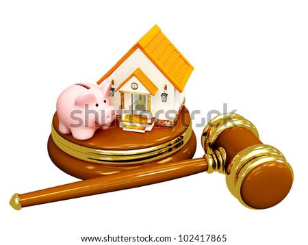 Conceptual image - division of property at divorce