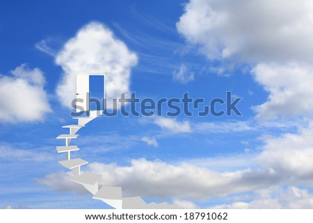 Conceptual image - dream of own house - stock photo