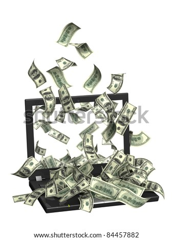 Conceptual image - earnings in the Internet - stock photo