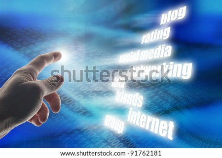 conceptual image for social media and networking - stock photo