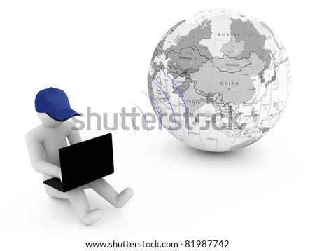 Conceptual image - global communication. 3d - stock photo