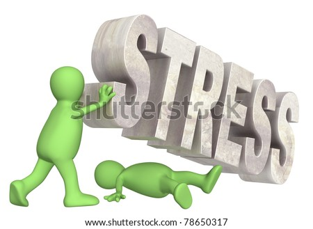 Conceptual image - hostage of the stress - stock photo