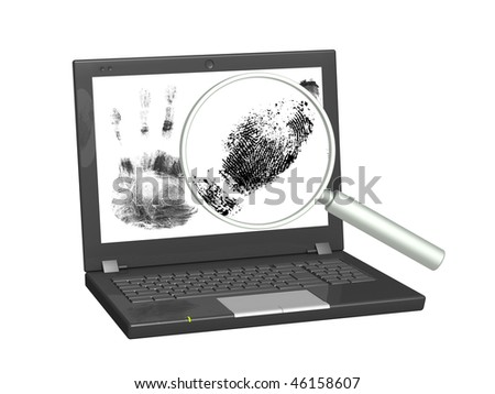 Conceptual image - information search in the Internet - stock photo