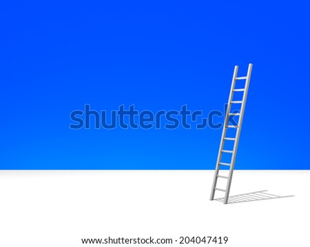 Conceptual image - ladder in the sky - 3d illustration  - stock photo