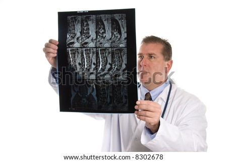 Conceptual image of a doctor patient MRI's.  Intended for any use where a medical inference is needed. - stock photo
