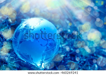 conceptual image of a glass globe - stock photo